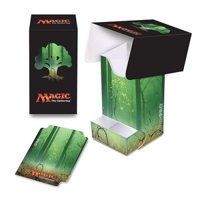 Boite de rangement illustrée Magic the Gathering Unhinged - Deck Box - Full-View - Forêt