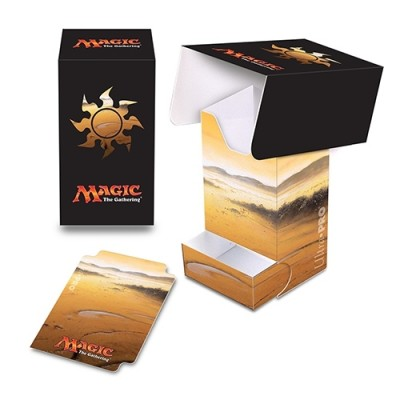 Boite de rangement illustrée Magic the Gathering Unhinged - Deck Box - Full-View - Plaine