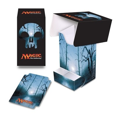 Boite de rangement illustrée Magic the Gathering Unhinged - Deck Box - Full-View - Marais