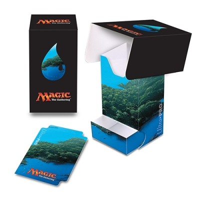 Boite de rangement illustrée Magic the Gathering Unhinged - Deck Box - Full-View - Ile