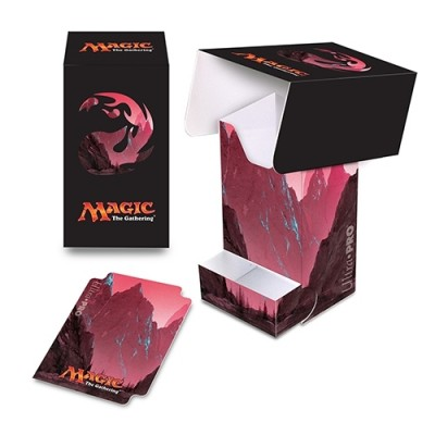 Boites de rangement illustrées Accessoires Pour Cartes Deck Box Ultra Pro - Unhinged Full-View - Rouge Montagne