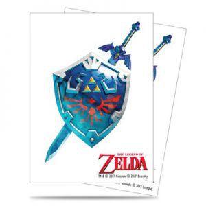 Protèges Cartes illustrées Accessoires Pour Cartes 65 Pochettes Ultra Pro - The Legend of Zelda - Sword & Shield - ACC