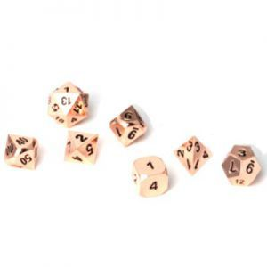 Dés et compteurs  Set de 7 Des - Metal RPG - Copper - ACC