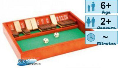 Autres jeux de plateau Jeux de Plateau Shut the box en Bois