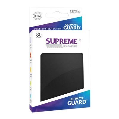 Protèges Cartes Accessoires Pour Cartes 80 Pochettes - Supreme Ux - Noir