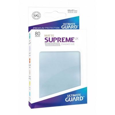 Protèges Cartes Accessoires Pour Cartes 80 Pochettes - Supreme Ux Matte - Transparent