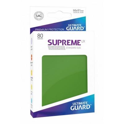 Protèges Cartes Accessoires Pour Cartes 80 Pochettes Ultimate Guard - Sleeves Supreme Ux - Vert - Acc
