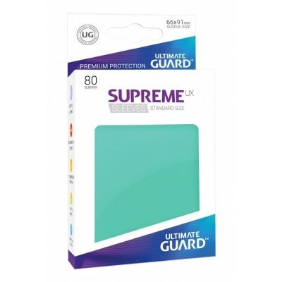 Protèges Cartes Accessoires Pour Cartes 80 Pochettes Ultimate Guard - Sleeves Supreme Ux - Turquoise - Acc
