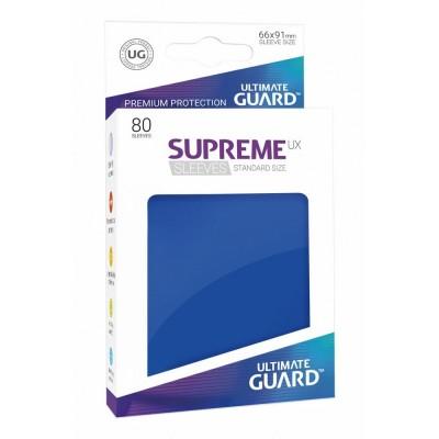 Protèges Cartes Accessoires Pour Cartes 80 Pochettes Ultimate Guard - Sleeves Supreme Ux - Bleu - Acc
