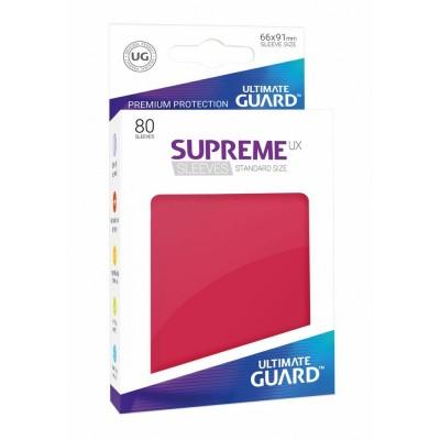 Protèges Cartes Accessoires Pour Cartes 80 Pochettes - Supreme Ux - Rouge