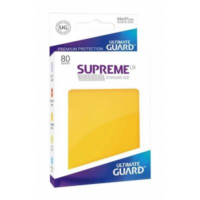 Protèges Cartes 80 Pochettes - Supreme Ux - Jaune