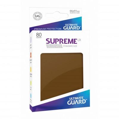Protèges Cartes Accessoires Pour Cartes 80 Pochettes Ultimate Guard - Sleeves Supreme Ux - Marron - Acc