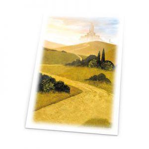 Protèges Cartes illustrées 80 Pochettes - Lands Edition - Plaine/blanc