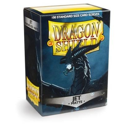 Protèges Cartes Accessoires Pour Cartes 100 Pochettes Dragon Shield Matte - Jet - Acc