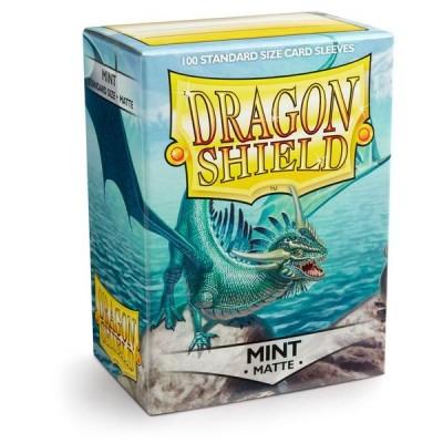 Protèges Cartes Accessoires Pour Cartes 100 Pochettes Dragon Shield Matte - Mint - Acc