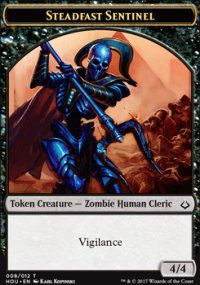 Tokens Magic Magic the Gathering Token/Jeton - L'age de la destruction - 08/12 Sentinelle inebranlable