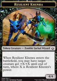 Tokens Magic Magic the Gathering Token/Jeton - L'age de la destruction - 06/12 Khenra resistant