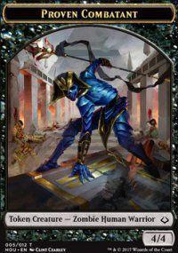Tokens Magic Token/Jeton - L'age de la destruction - 05/12 Combattante eprouvee
