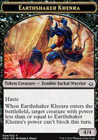 Tokens Magic Magic the Gathering Token/Jeton - L'age de la destruction - 04/12 Khenra trembleterre