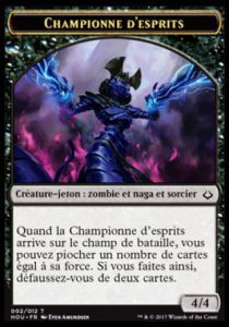 Tokens Magic Magic the Gathering Token/Jeton - L'age de la destruction - 02/12 Championne d'esprit