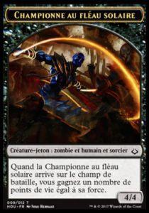 Tokens Magic Accessoires Pour Cartes Token/Jeton - L'age de la destruction - Championne au fléau solaire