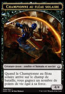 Tokens Magic Magic the Gathering Token/Jeton - L'age de la destruction - 09/12 Championne au fléau solaire