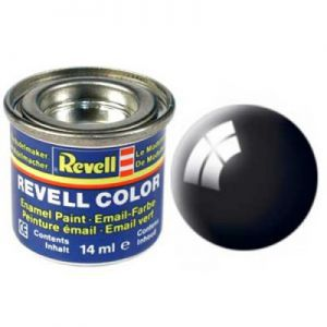 Peintures pour Figurines Accessoires Pour Cartes Email Color - 32107 - Noir Brillant - Revell - ACC