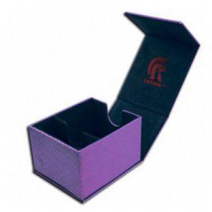 Boites de Rangements Accessoires Pour Cartes Legion - Deck Box - Hoard Plus Dragon Hide - Purple - ACC