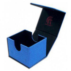 Boites de Rangements Accessoires Pour Cartes Legion - Deck Box - Hoard V2 Dragon Hide - Bleu - ACC