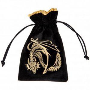 Dés et compteurs Accessoires Pour Cartes Petit Sac - Dice Bag - Dragon Black - ACC