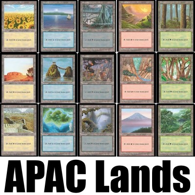 Collections Complètes Magic the Gathering APAC Lands - Set Complet