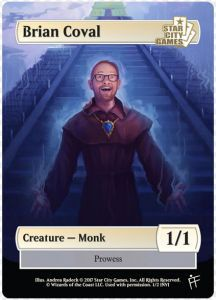 Tokens Magic Magic the Gathering Token/jeton - Monk - Star City Games - (Brian Coval)