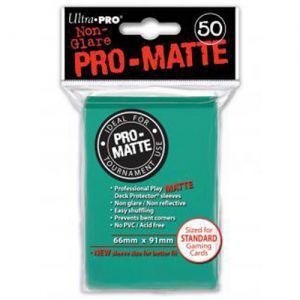 Protèges Cartes Accessoires Pour Cartes 50 pochettes - Pro Matte - Aqua