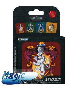 """Goodies Accessoires Pour Cartes HARRY POTTER - Set 4 Dessous de verre - """"Maisons"""""""