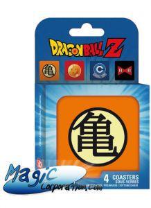 """Goodies  DRAGON BALL - Set 4 Dessous de verre - """"Symboles"""""""