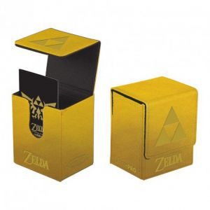 Boites de rangement illustrées Accessoires Pour Cartes Deck Box Ultra Pro - Flip Box Aimantée - Or Triforce Zelda
