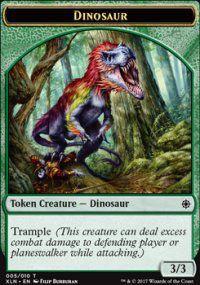Tokens Magic Token/jeton - Ixalan - 05/10 Dinosaure