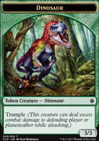 Tokens Magic Magic the Gathering Token/jeton - Ixalan - 05/10 Dinosaure