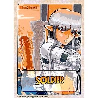Tokens Magic Accessoires Pour Cartes Token/jeton - Manga - Soldat