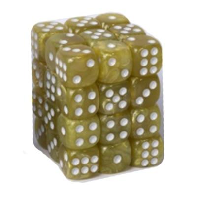 Dés et compteurs Boite De 36 Dés à 6 Faces 12mm - Marbled Yellow