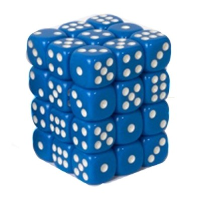 Dés et compteurs Accessoires Pour Cartes Boite De 36 Dés à 6 Faces - Opaque Blue - ACC