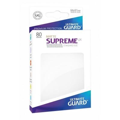 Protèges Cartes Accessoires Pour Cartes 80 Pochettes - Supreme Ux Matte - Blanc