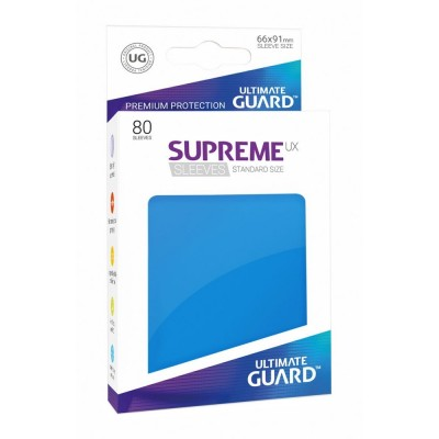 Protèges Cartes Accessoires Pour Cartes 80 Pochettes Ultimate Guard - Sleeves Supreme Ux - Bleu Roi - Acc