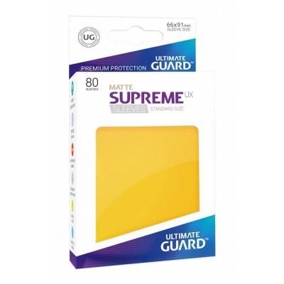 Protèges Cartes Accessoires Pour Cartes 80 Pochettes Ultimate Guard - Sleeves Supreme Ux - Jaune Matte - Acc
