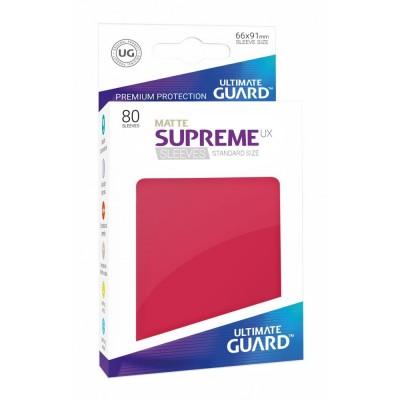 Protèges Cartes 80 Pochettes - Supreme Ux Matte - Rouge