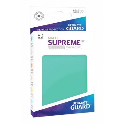 Protèges Cartes Accessoires Pour Cartes 80 Pochettes - Supreme Ux Matte - Turquoise