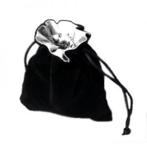 Dés et compteurs Accessoires Pour Cartes Petit sac à dés velour - Noir/Blanc - ACC