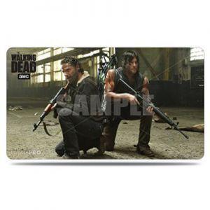 Tapis de Jeu Accessoires Pour Cartes Playmat - The Walking Dead - Rick Et Daryl