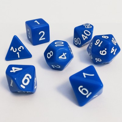Dés  Set De 7 Dés - Role Playing Dice Set - Opaque (couleur selon stock)