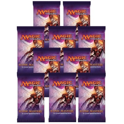 Boosters Magic the Gathering Iconic Masters - Lot De 10